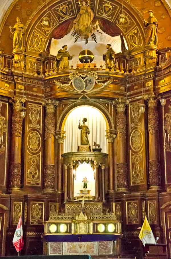 San Francisco Monestary Church Altar - Lima, Peru