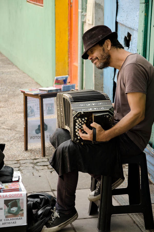 Bandoneon player BOCA