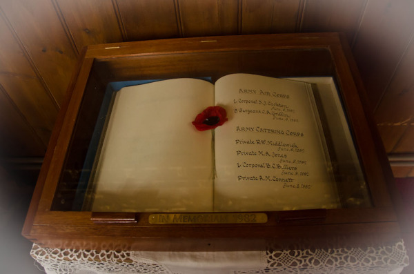 Memorial book of casulaties during Falkland War