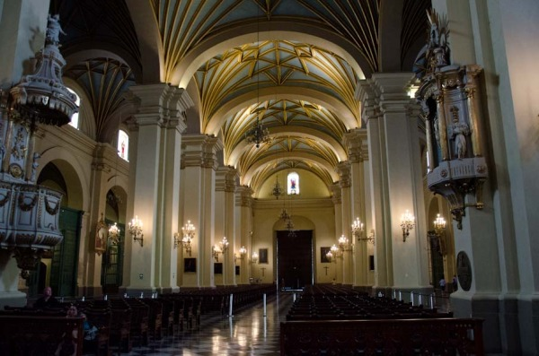 The nave of Cathederal of Lima, Peru