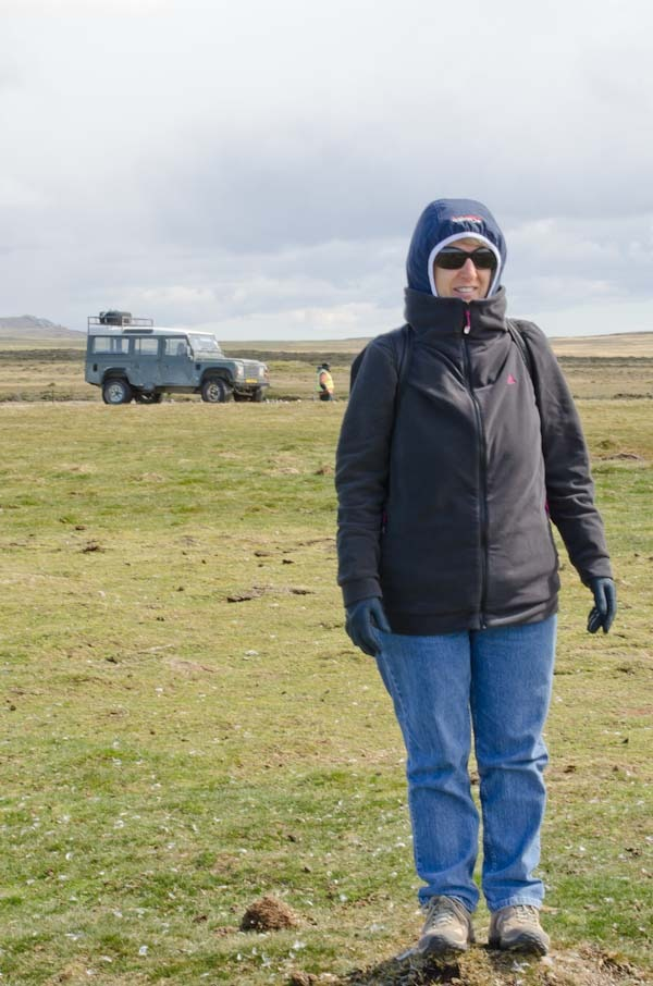 Zenetta with Land Rover in background