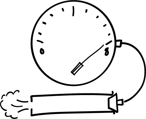 When the dial reads 8 or greater, the joint is fully open and unsealed.