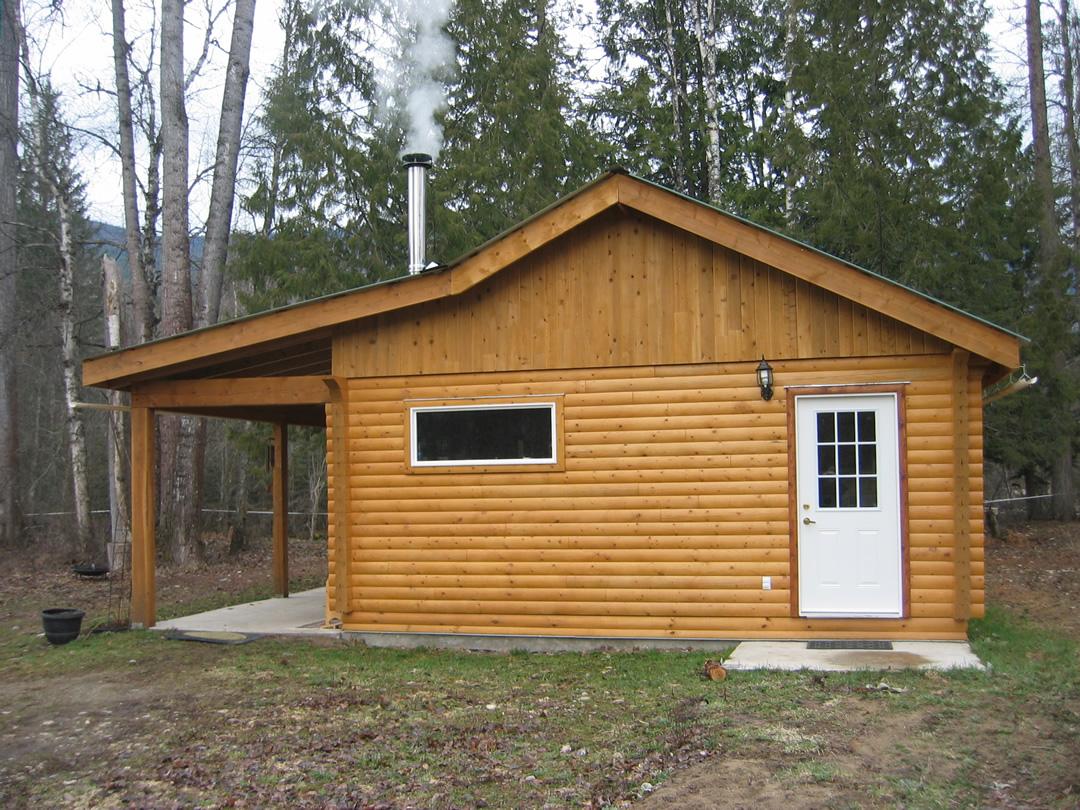 """6x6"""" Cedar Log Cabin"""