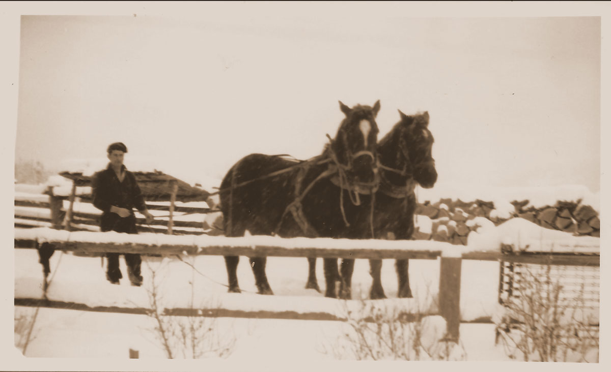 Jack and horses - 1940s