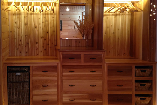 Interior closet using RB Cedar