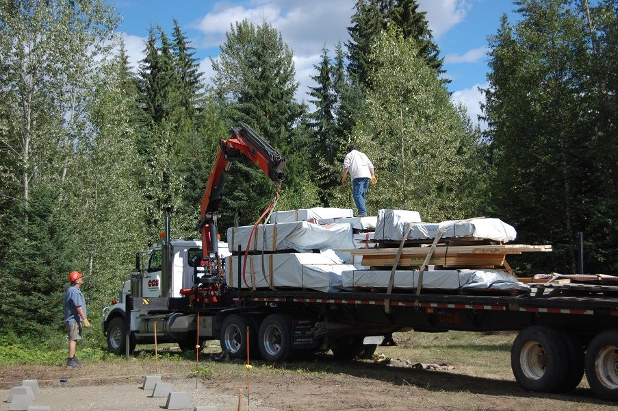 Your log package is wrapped and loaded on your trailer