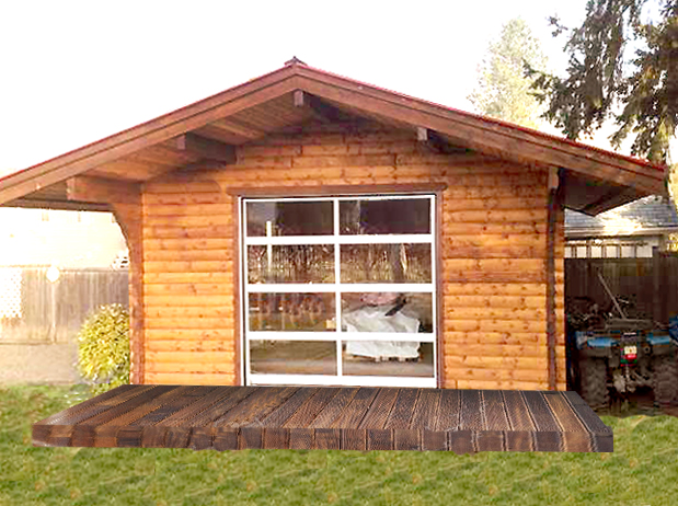16'x16' Backyard Retreat - Front View