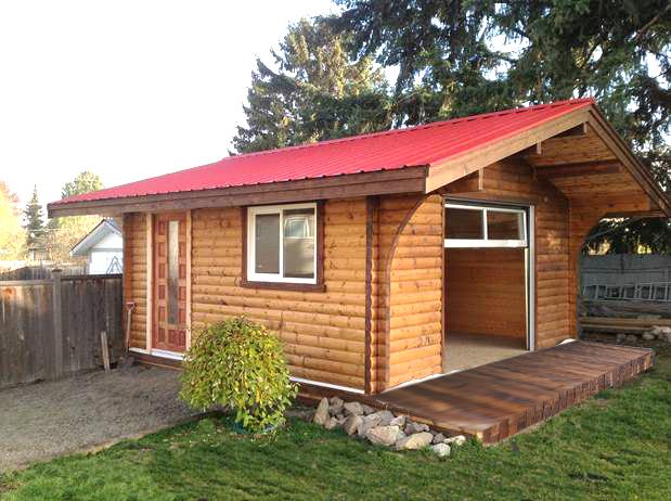16'x16' Backyard Retreat - Side View