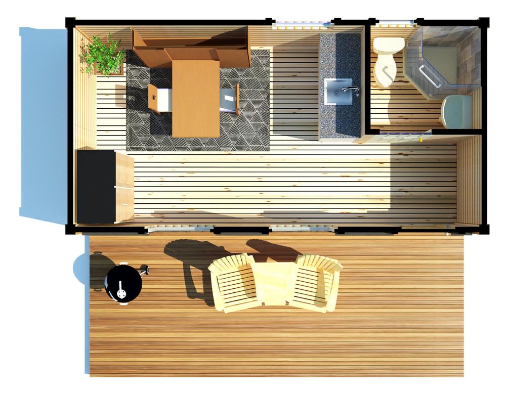 The 10x20' Tiny Home B&B - Aerial