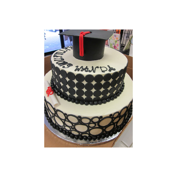 Cap and Dots Tier Cake