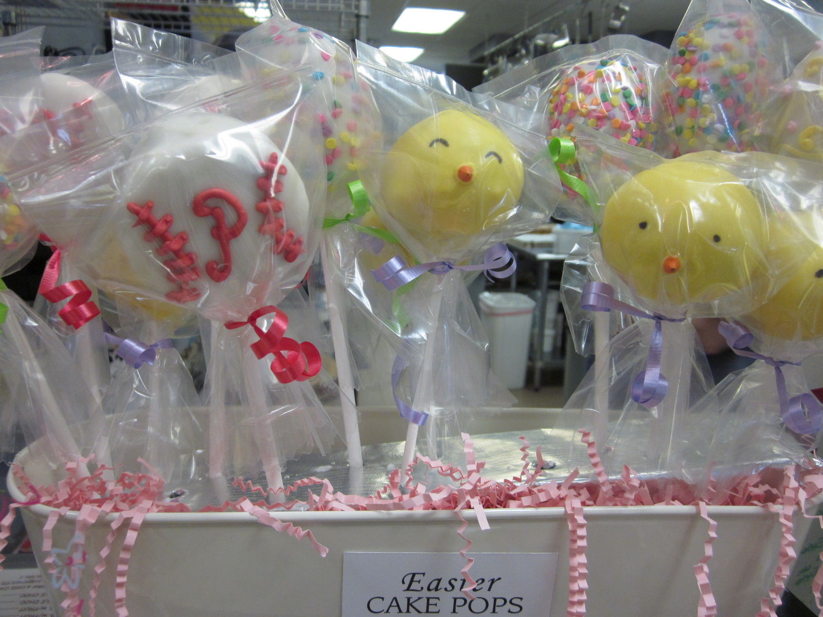 Phillies and Easter Chic Cake Pops