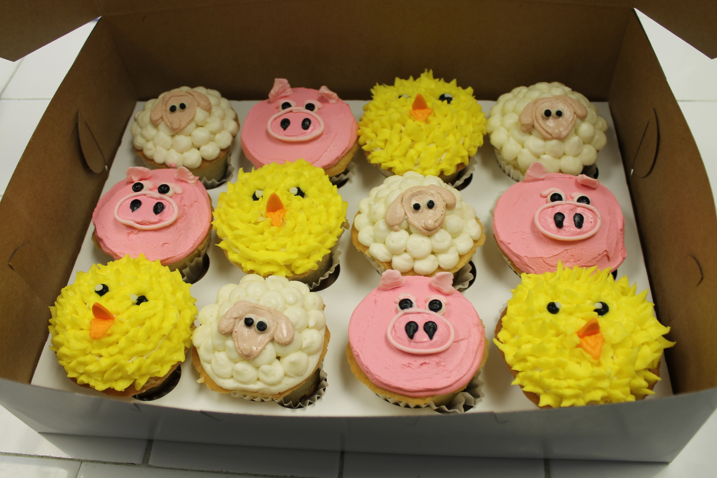 Farm Friends Cupcakes