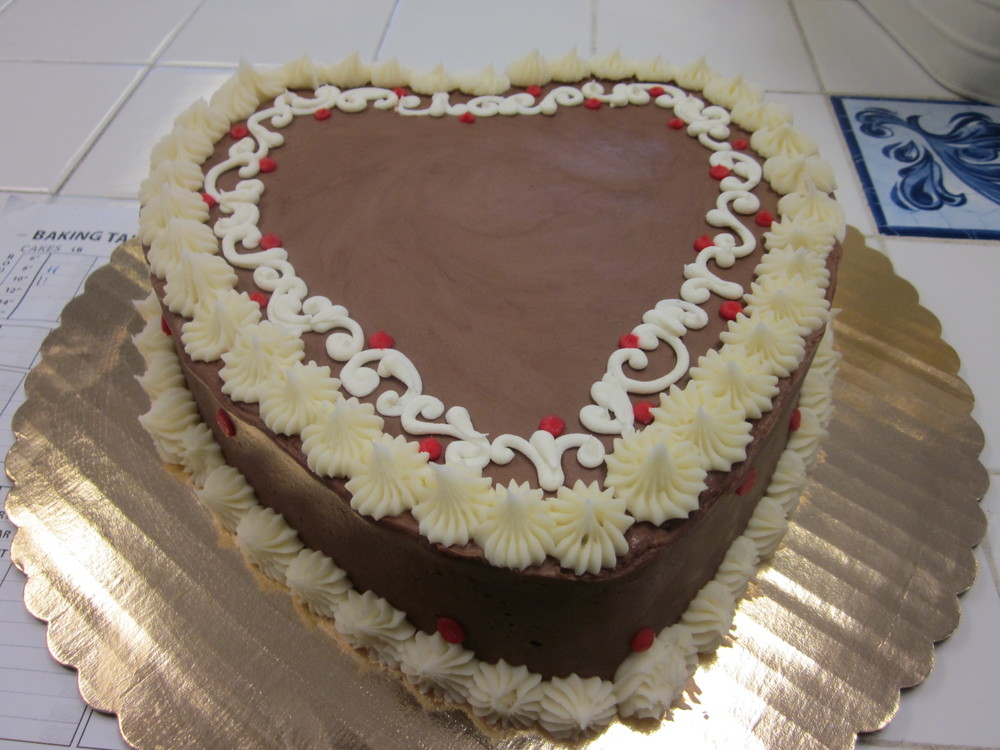 Valentine Pound Cake with Chocolate Butter Cream