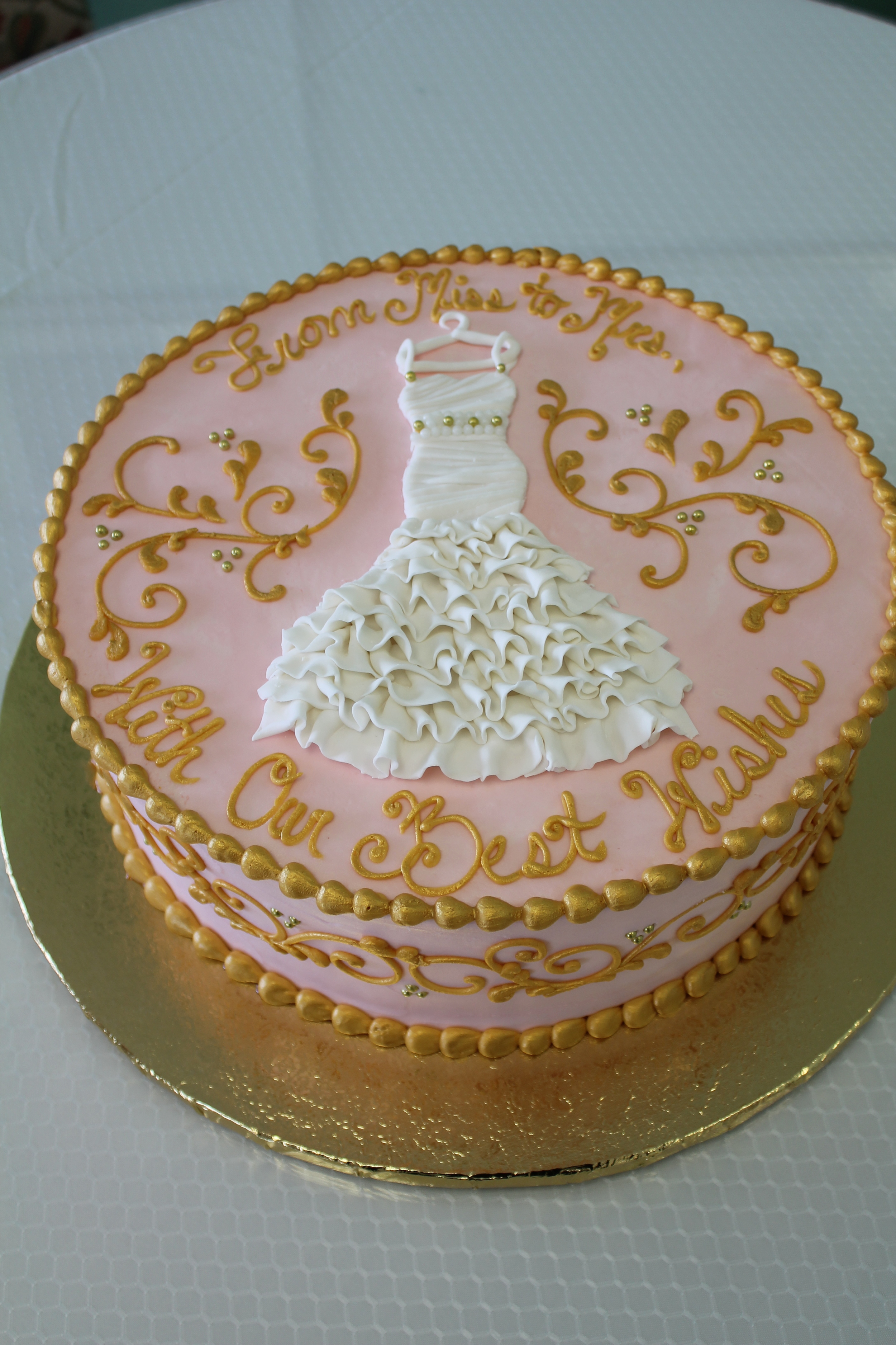 Pink and Glimmering Gold Bridal Shower