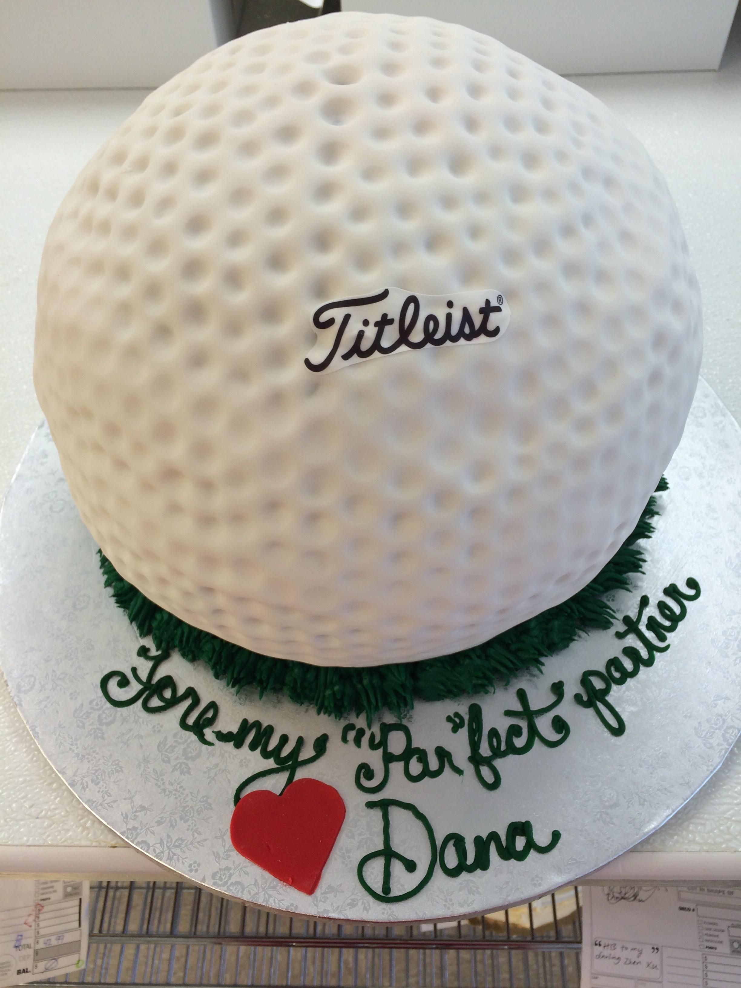 Golf Ball Groom's Cake