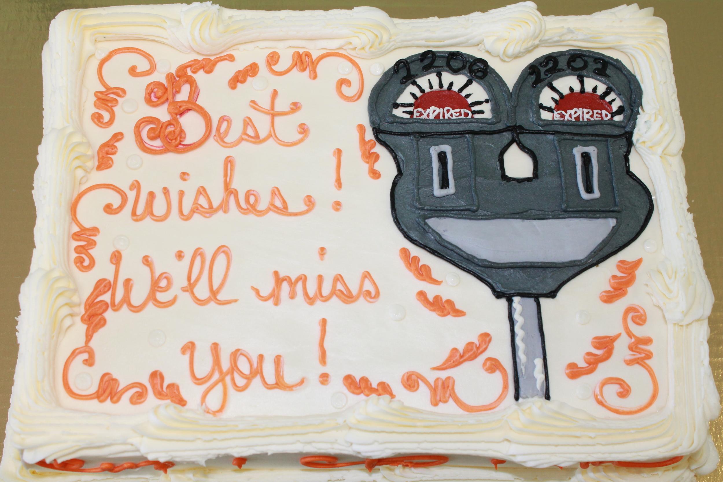 Parking Authority Retirement Cake