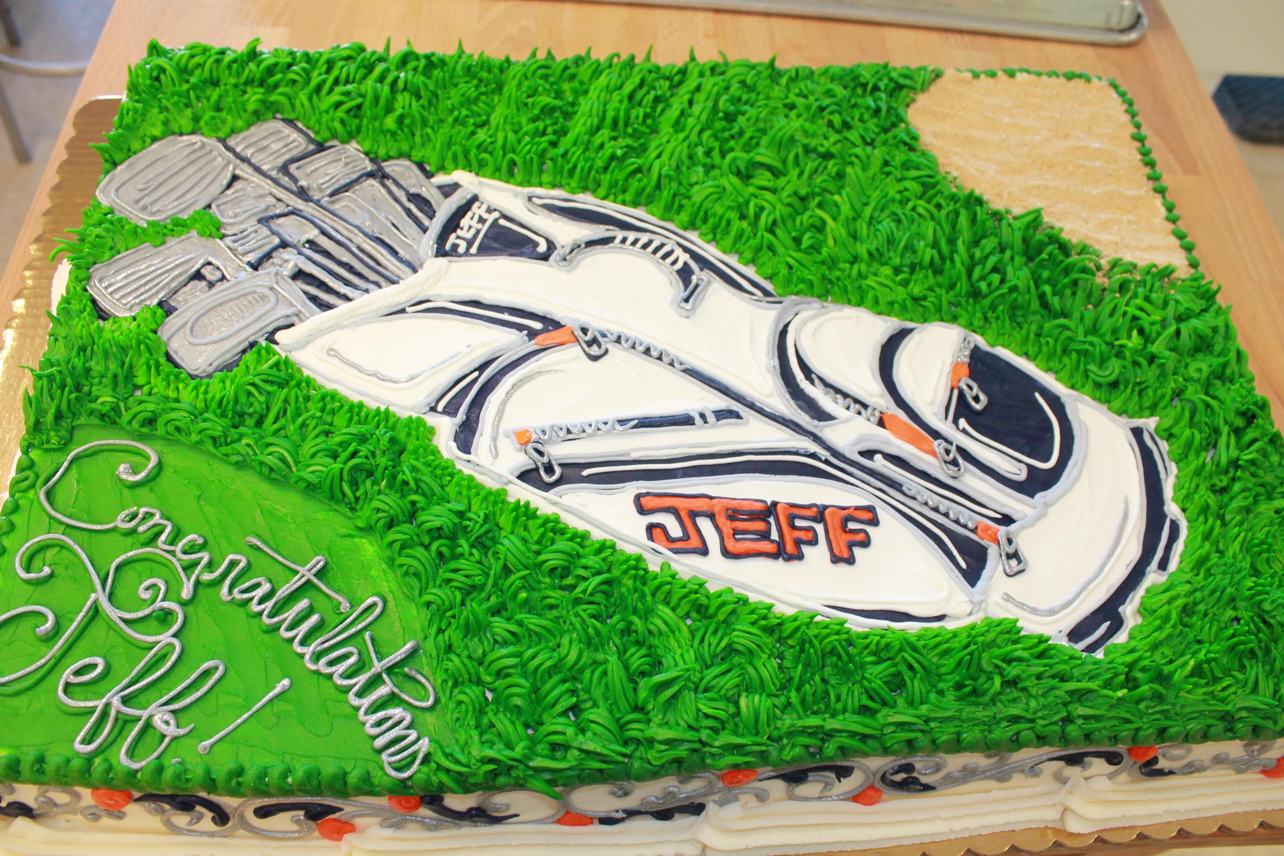 Golf Bag Retirement Cake