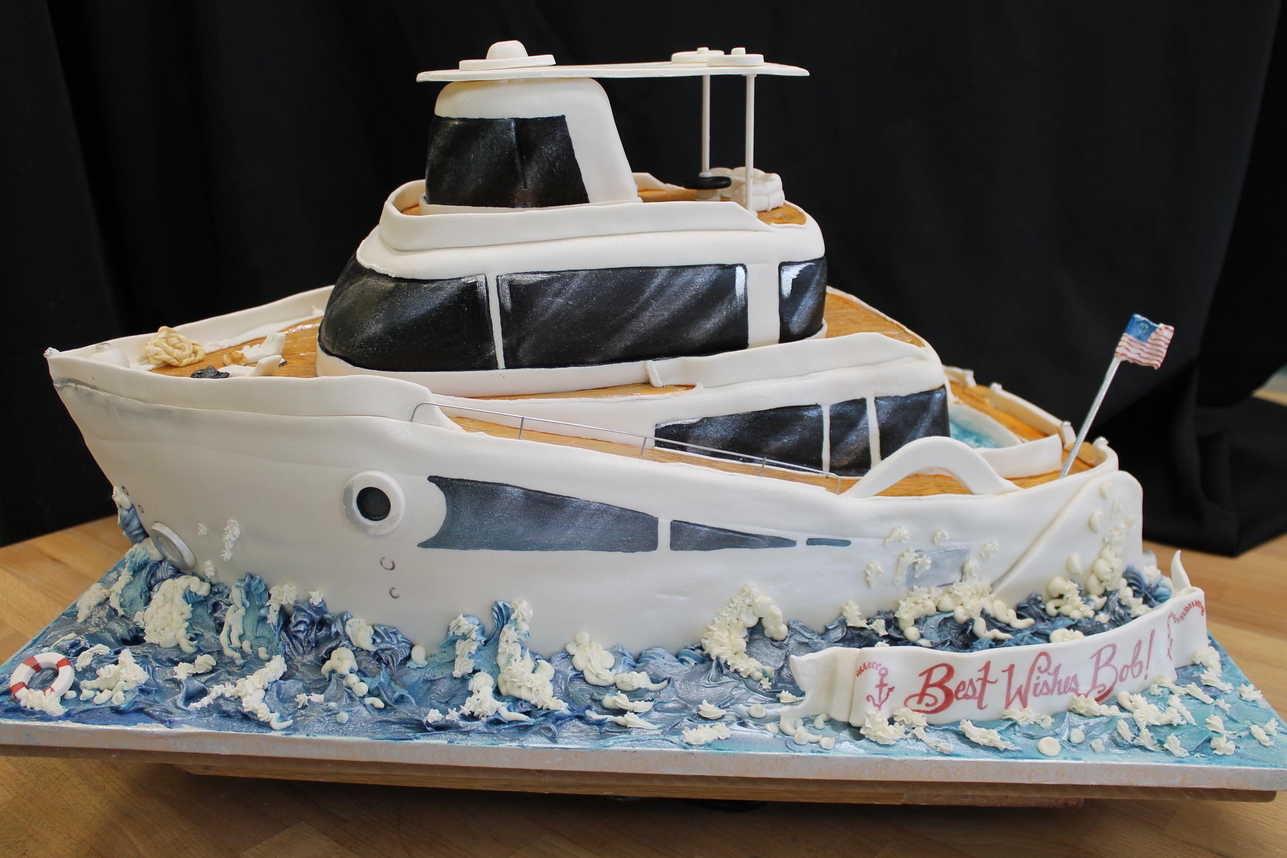 Retirement Yacht for Bob Cake