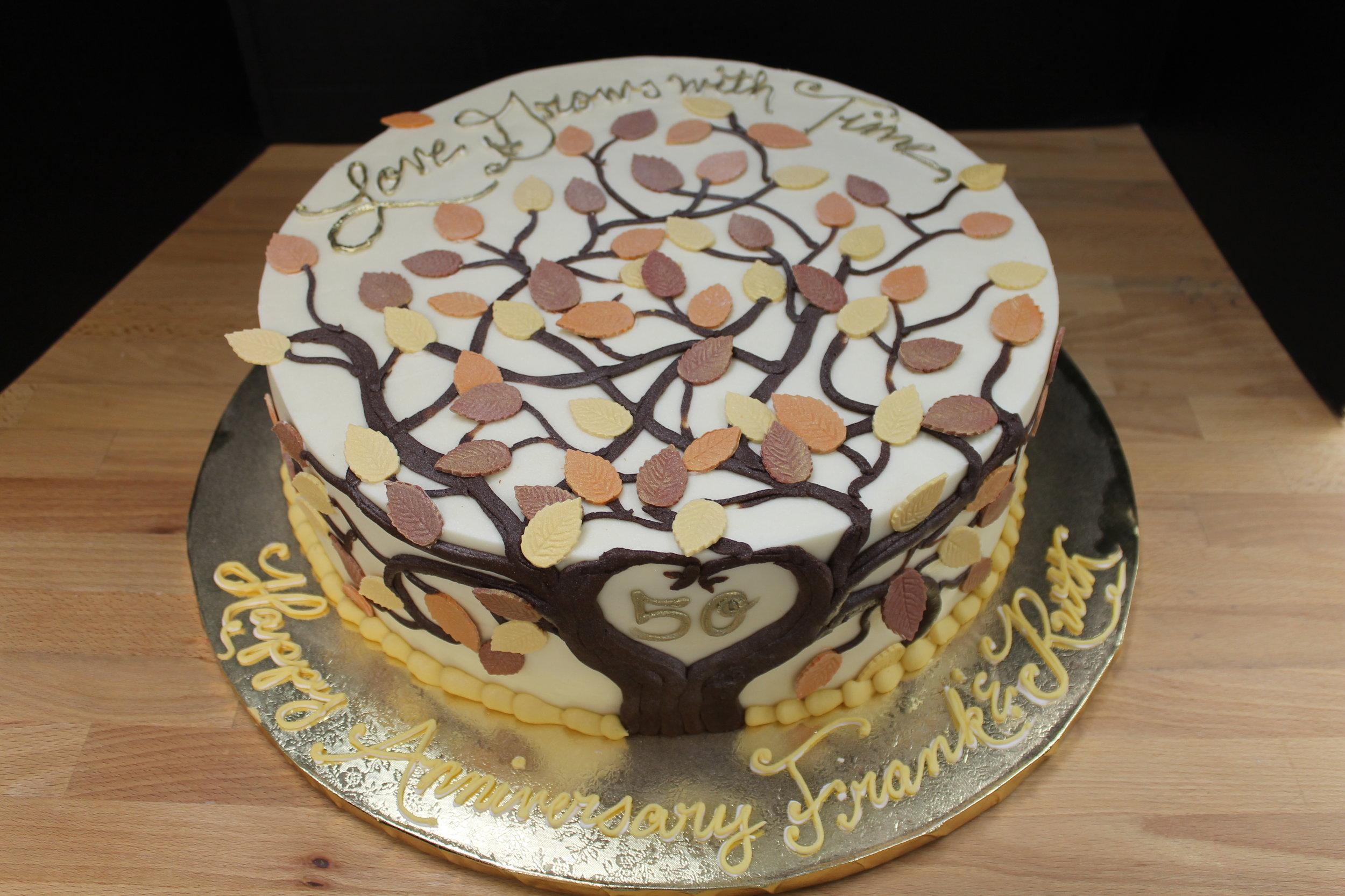 Family Tree Anniversary Cake