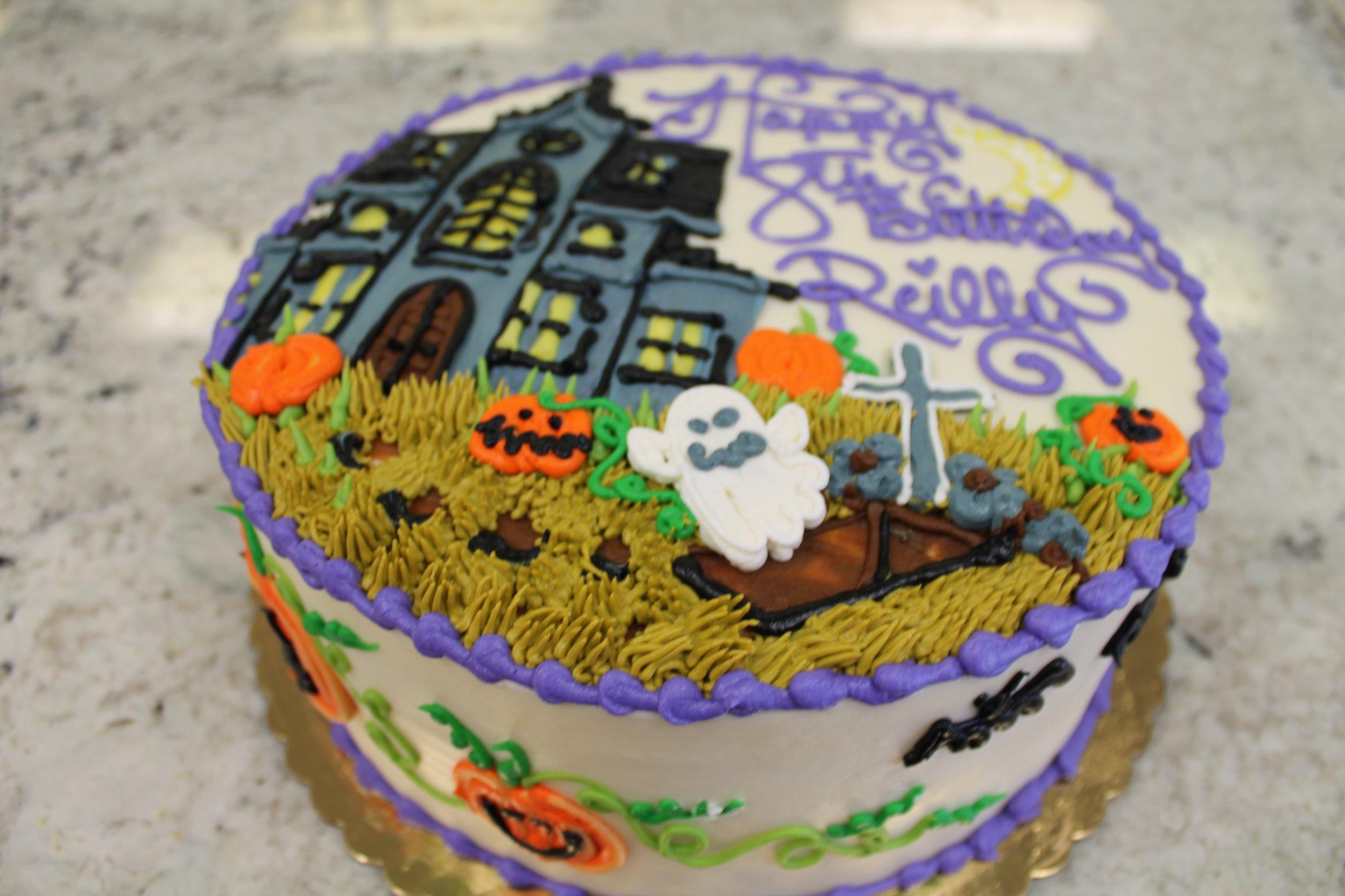 Spooky Birthday Cake