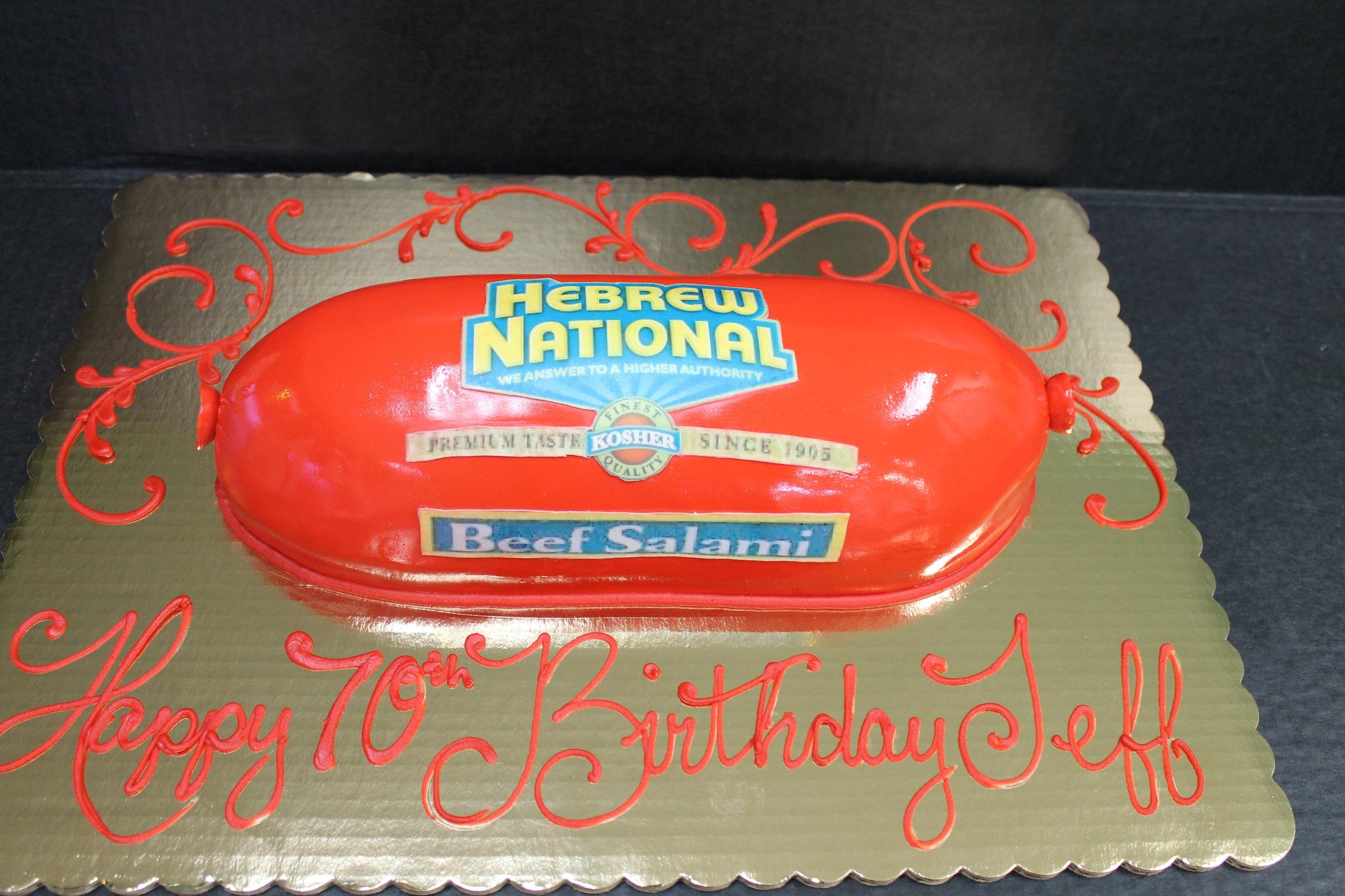 Salami Cake