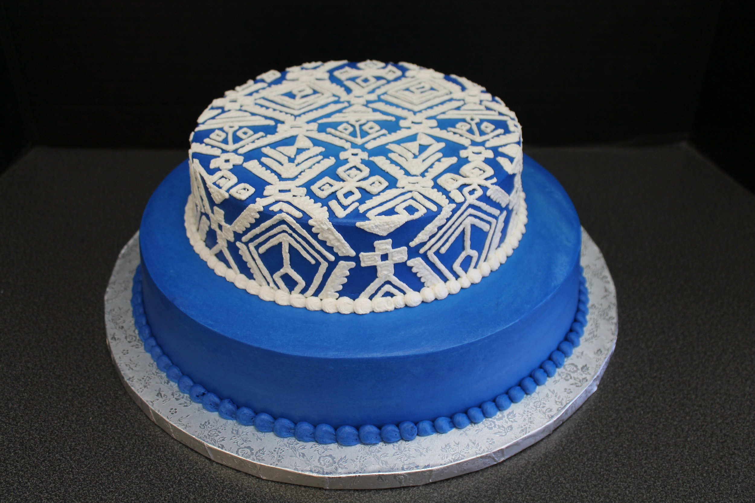 Indian Blanket Birthday Cake
