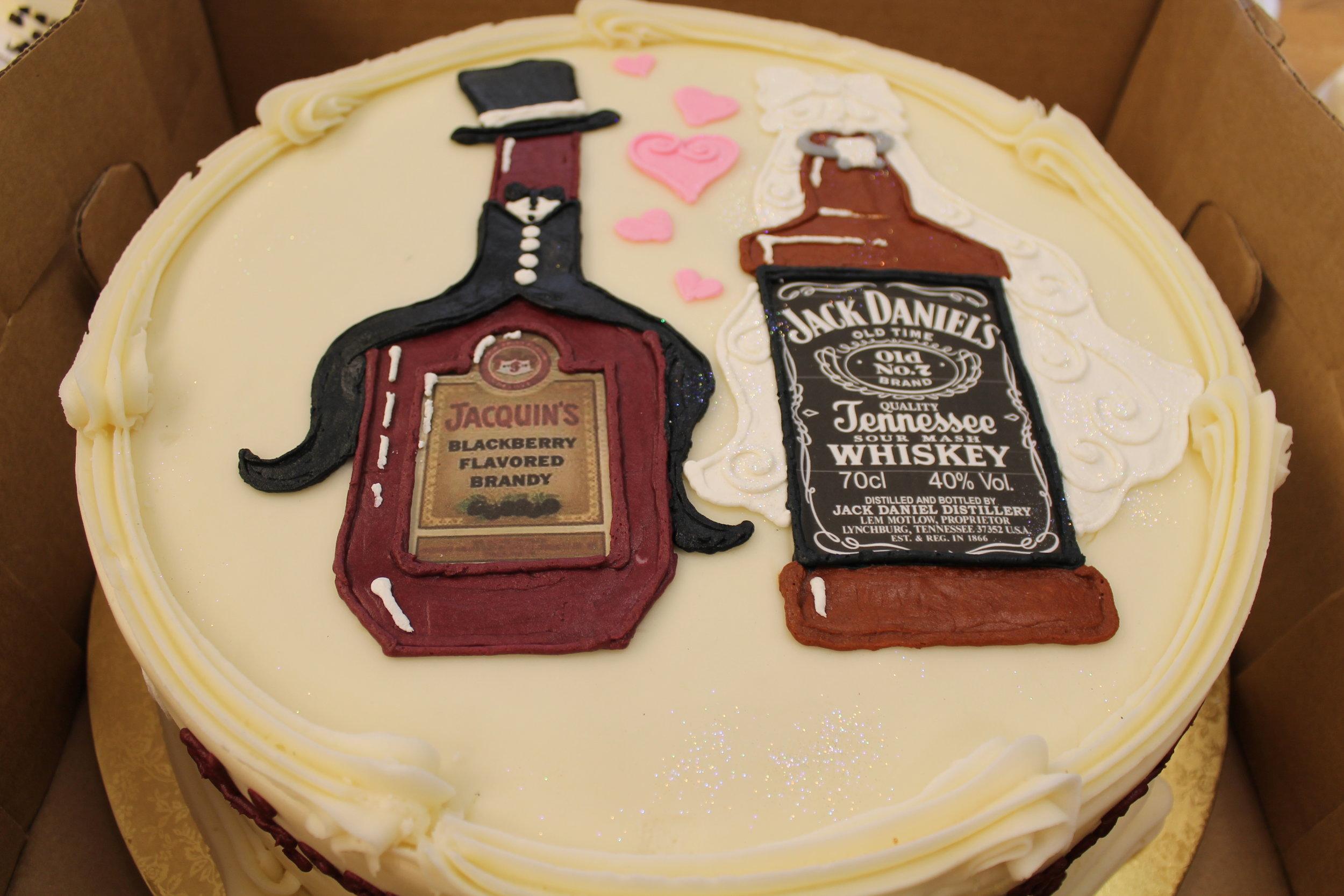 The Happy Couple Engagement Cake