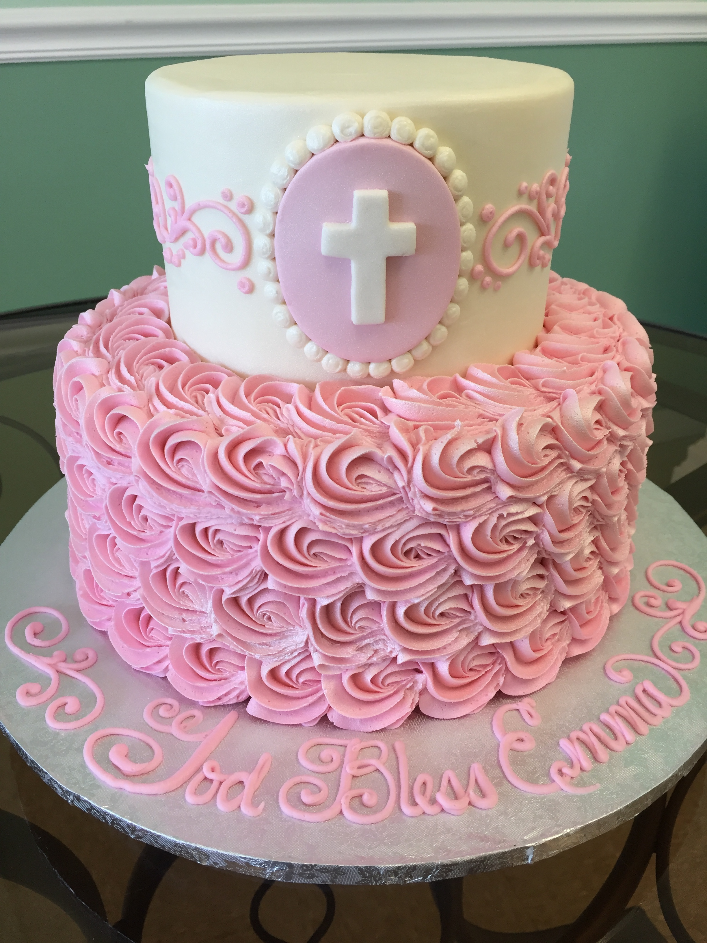 Rosettes and A Cross Tier Cake 211