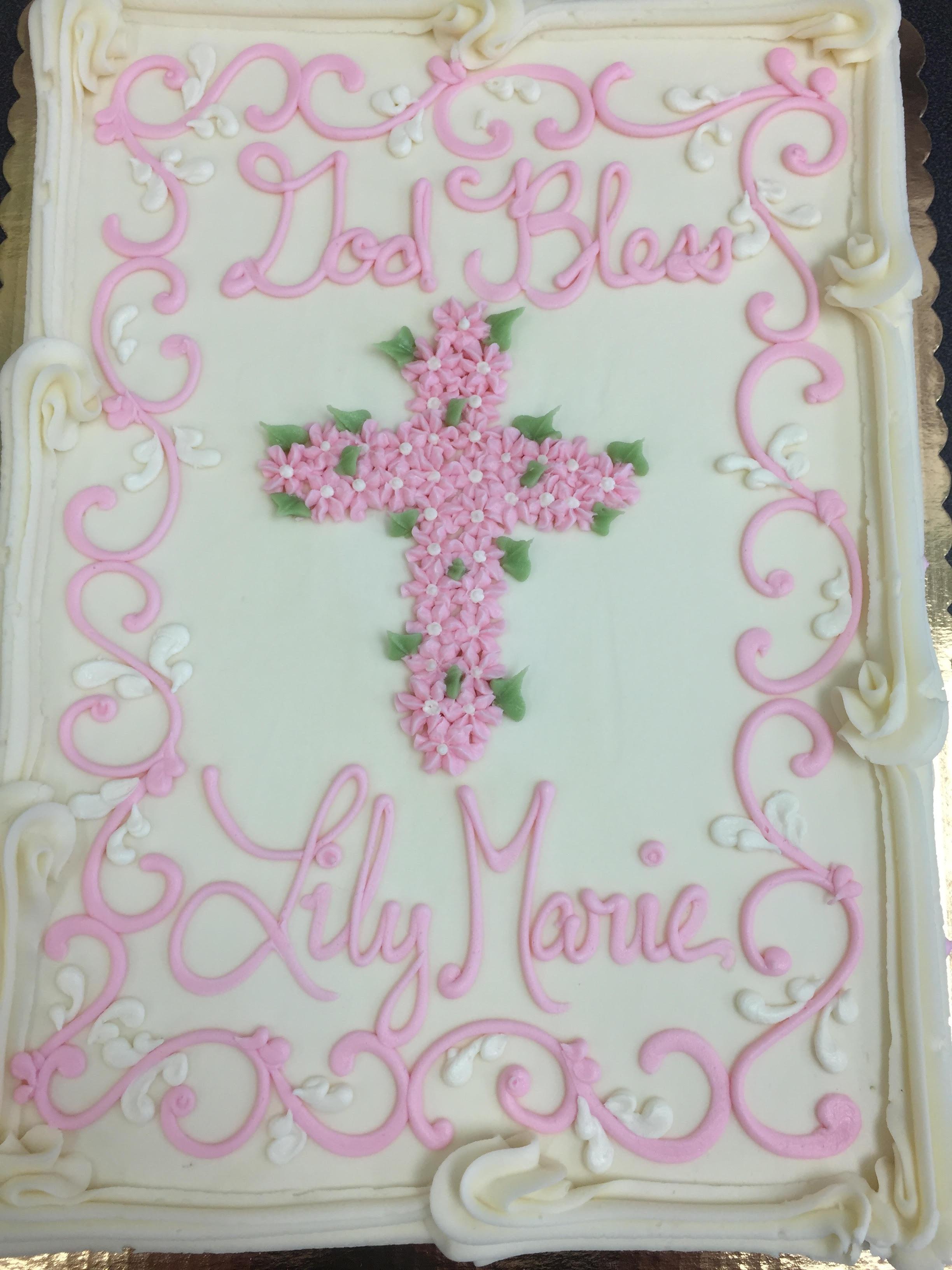 Pink Drop Flower Cross 214