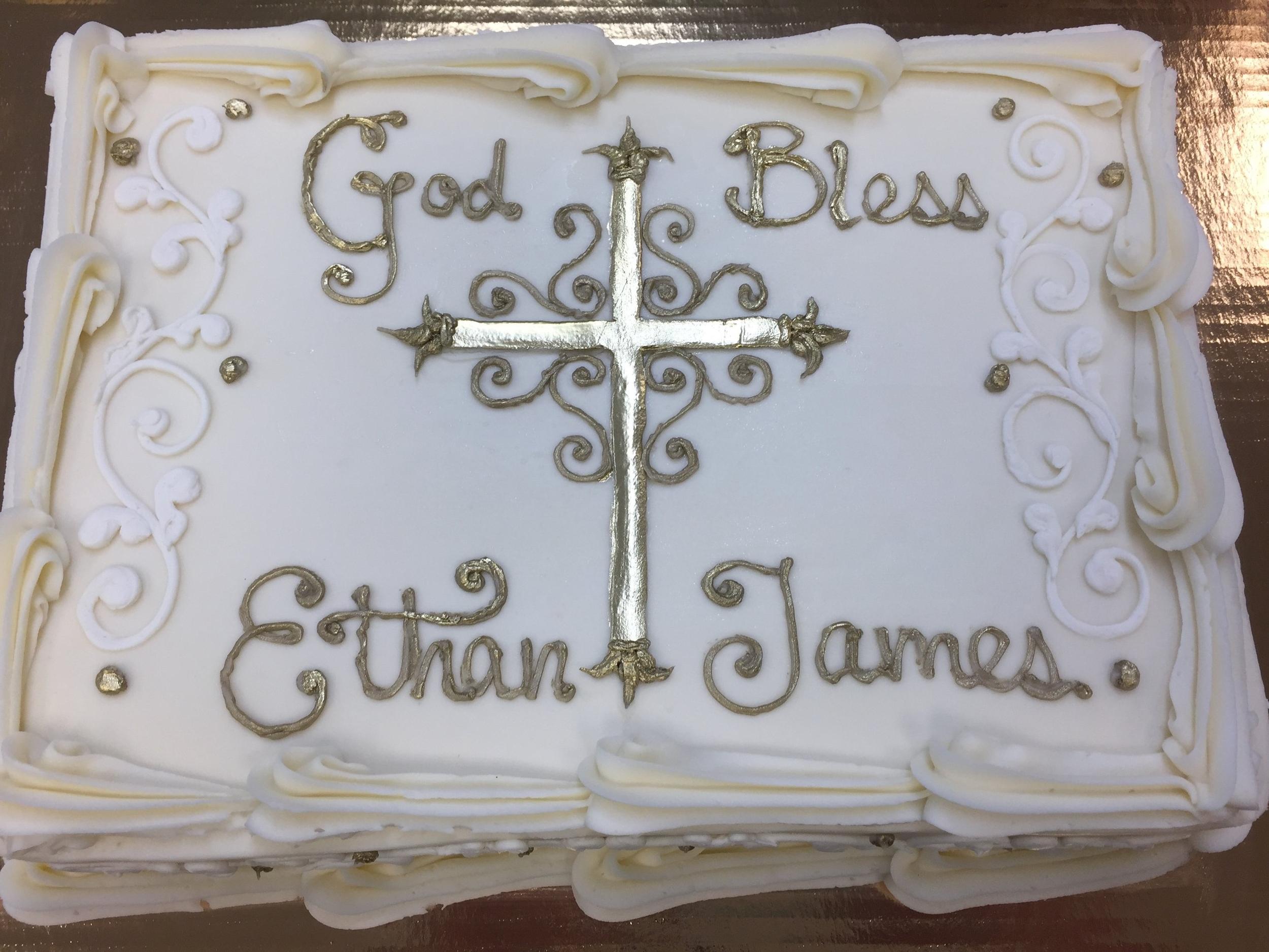 Golden Ornate Cross for Ethan