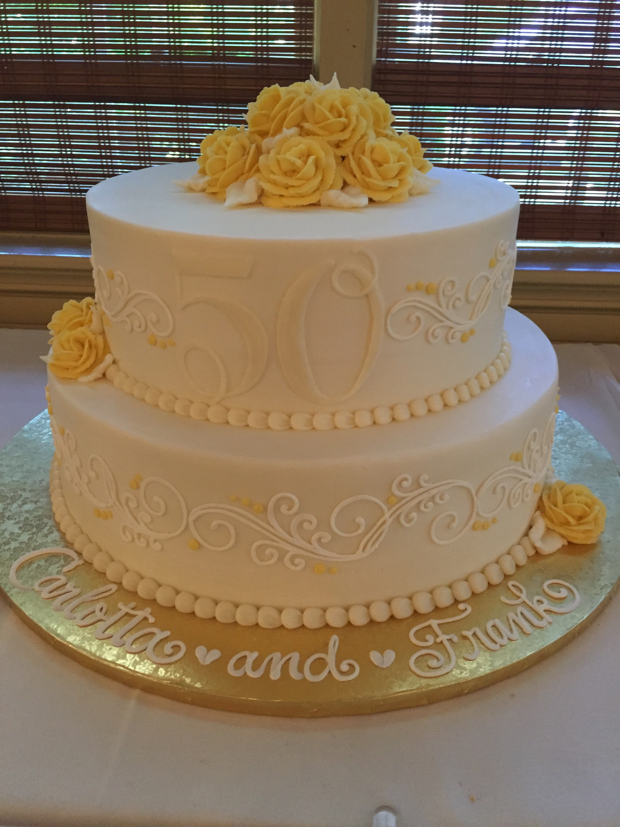 Yellow and Creams for a 50th!