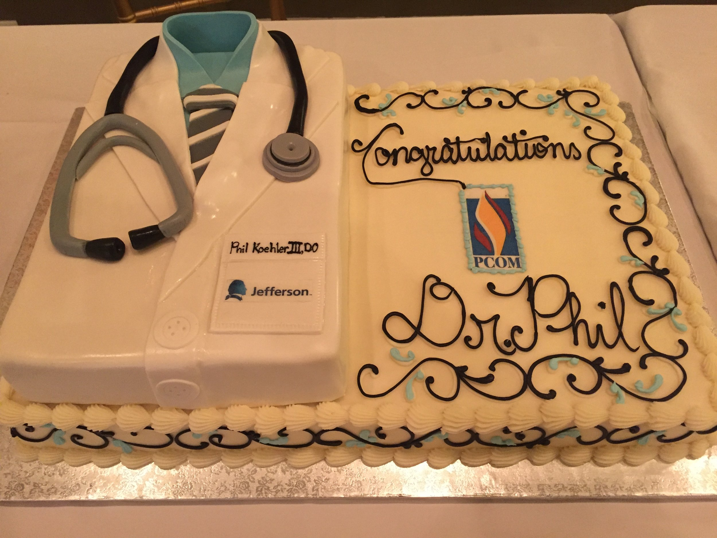 Congratulations Cake for the Doctor