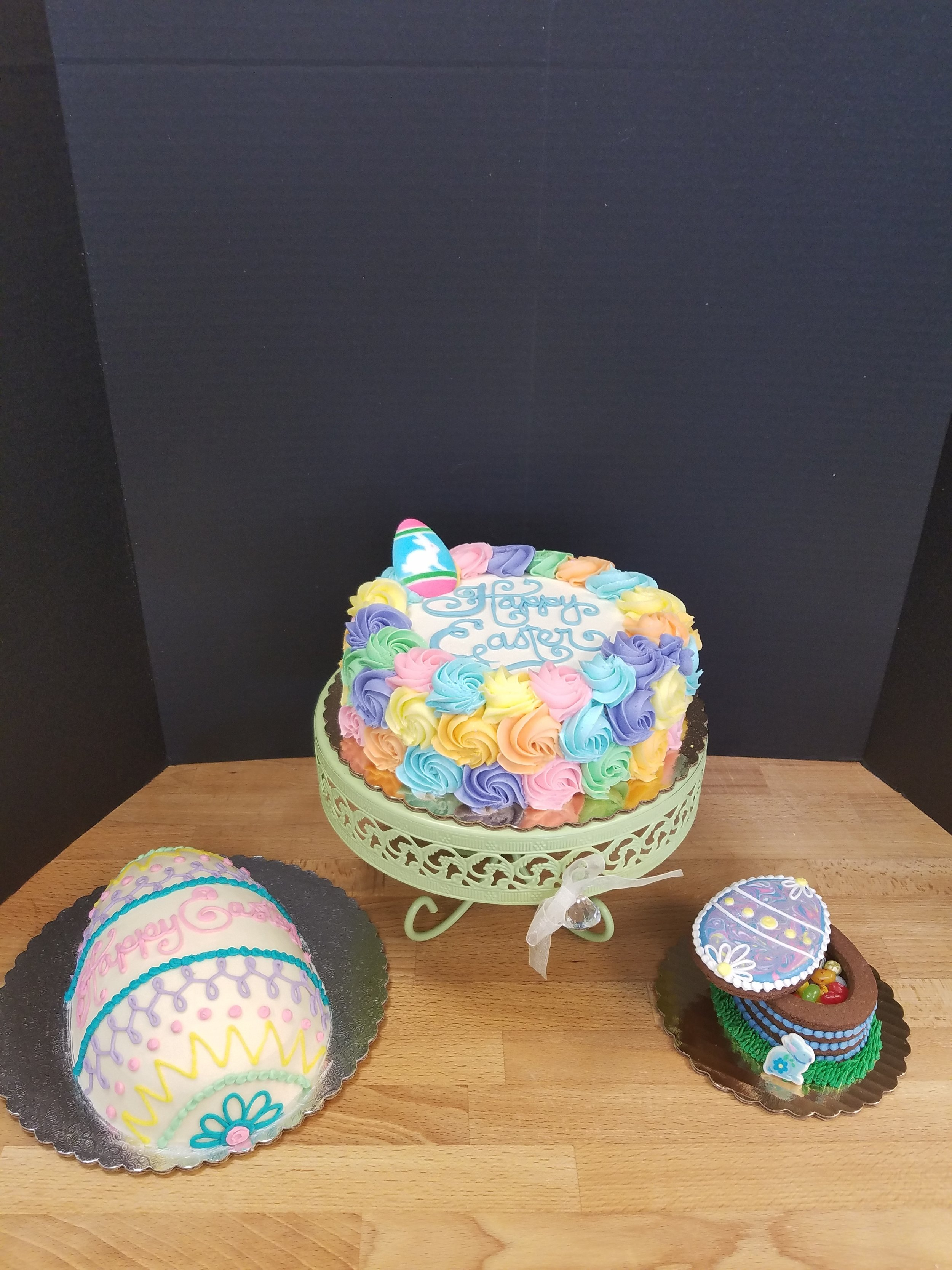 Easter Rosettes, Egg and Cookie Box
