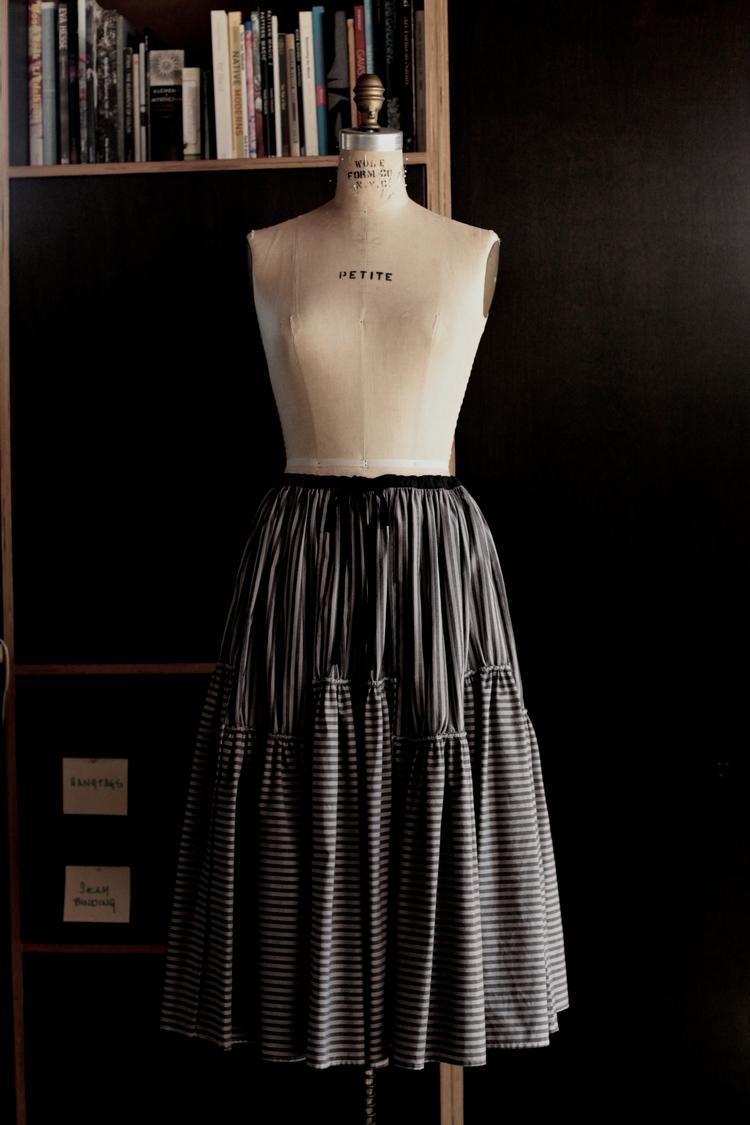 #1020 thunderstorm skirt/cotton