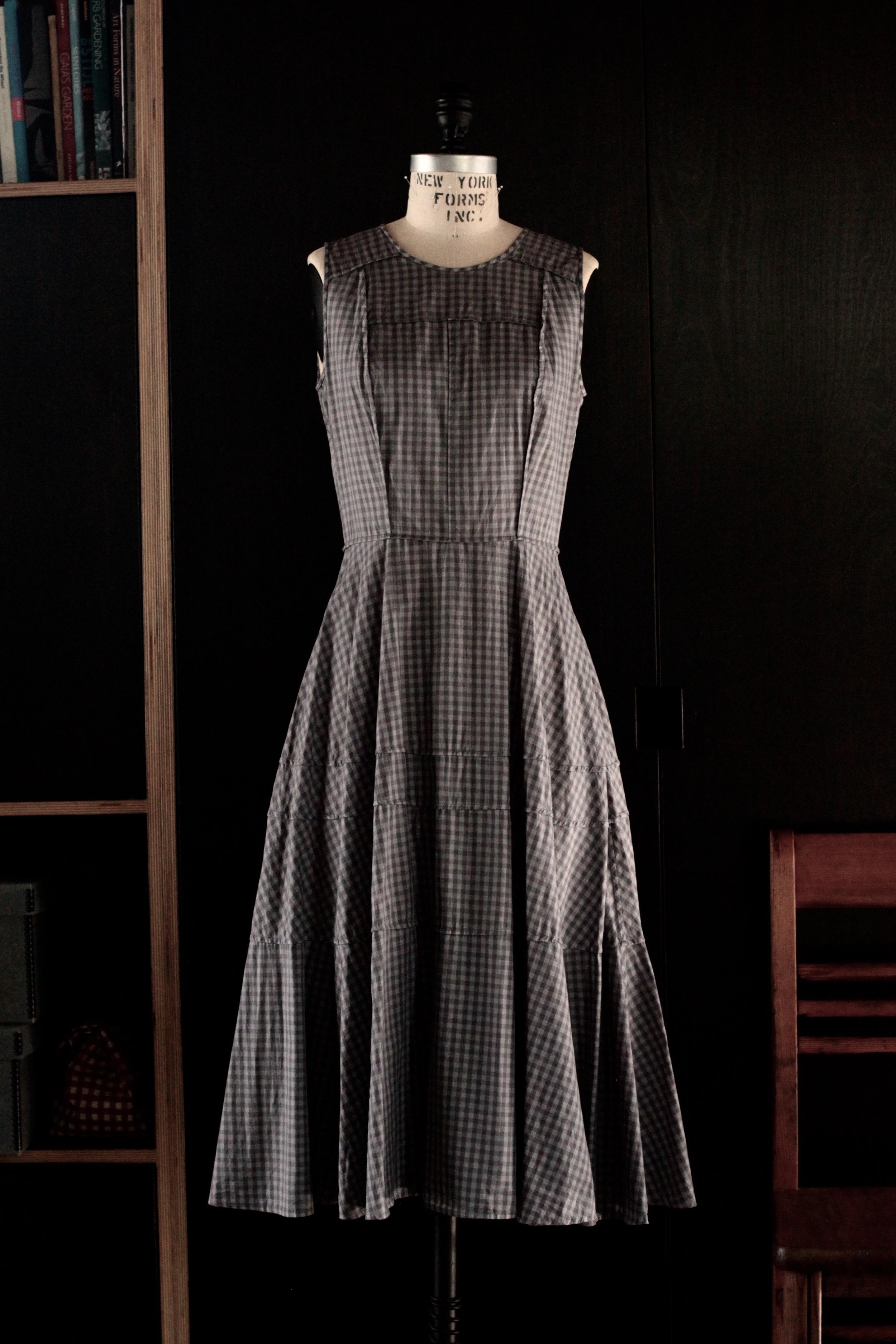 #2018 blackbird dress/cotton gingham