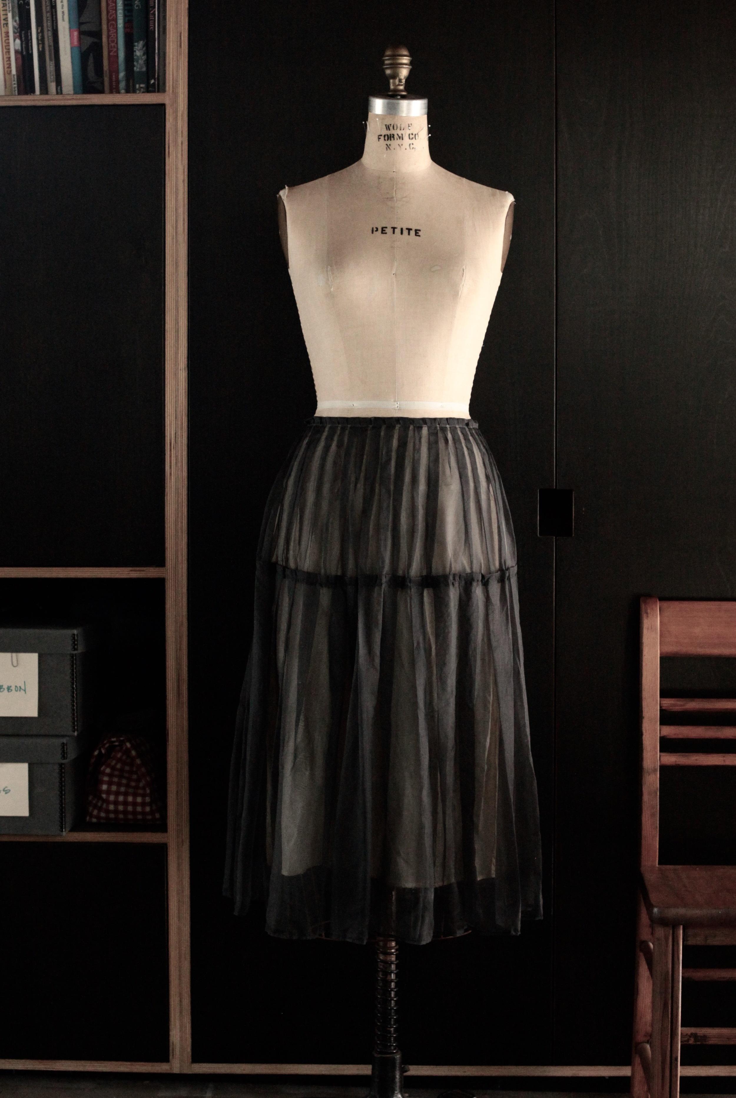 #1017 icicle skirt/silk organza