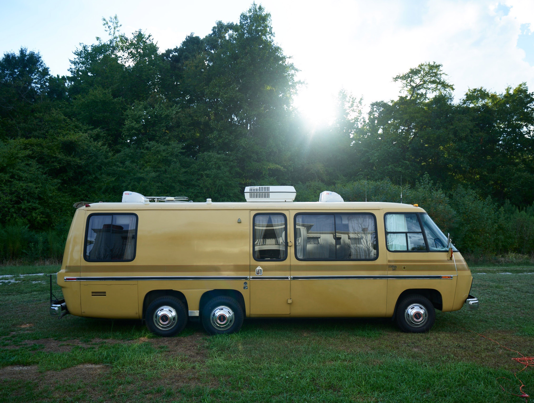 This is my 1974 GMC Eleganza which will be my home as I travel the US indefinitely.