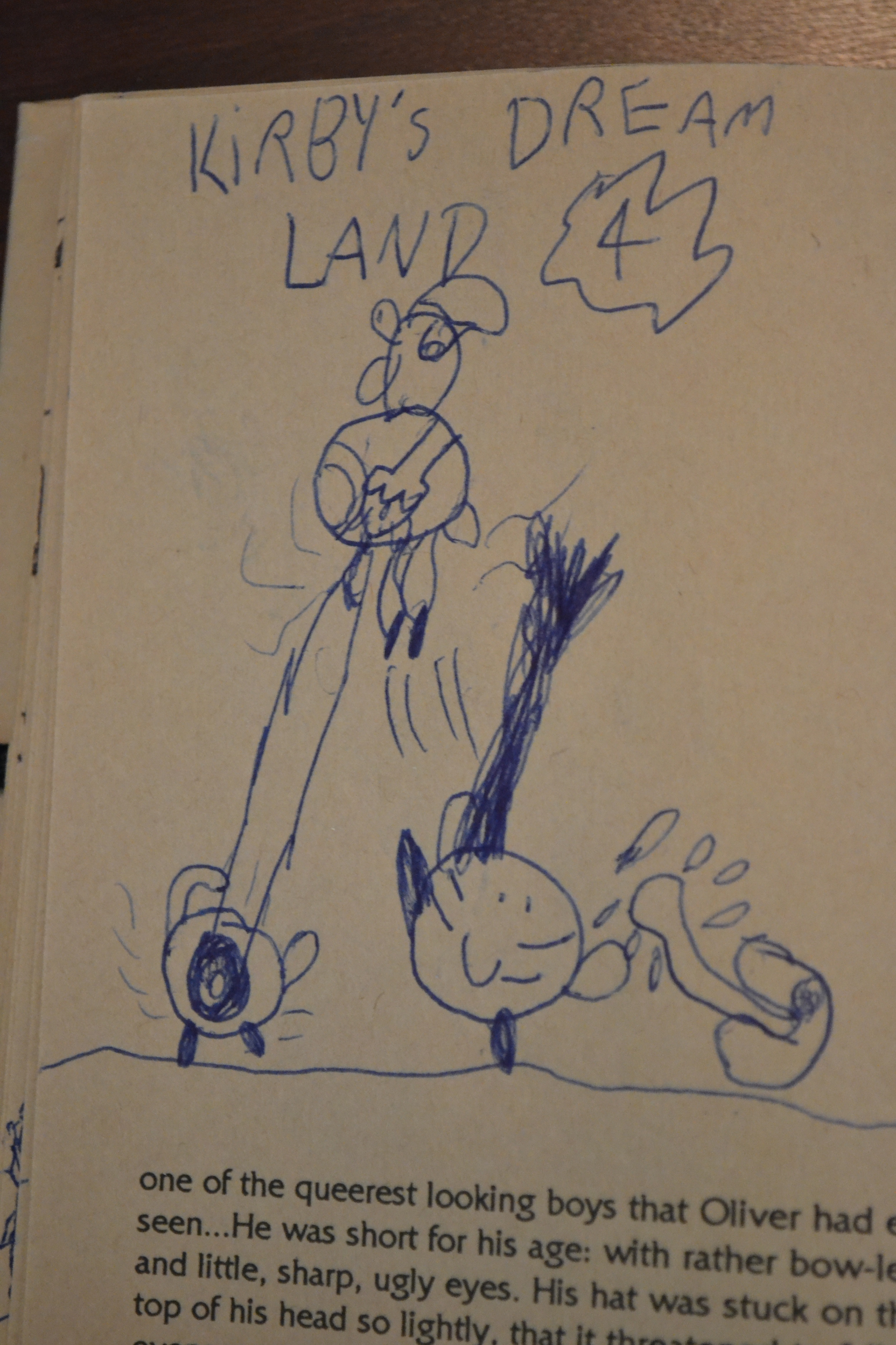 The 3rd-most overtly homoerotic/sexual thing I drew as a 3rd grader.