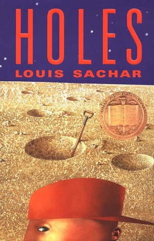 Does anyone else think this cover makes it look like Holes is about a boy who lives on the moon?