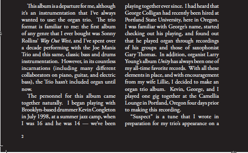 North by Northwest  liner notes, page 1