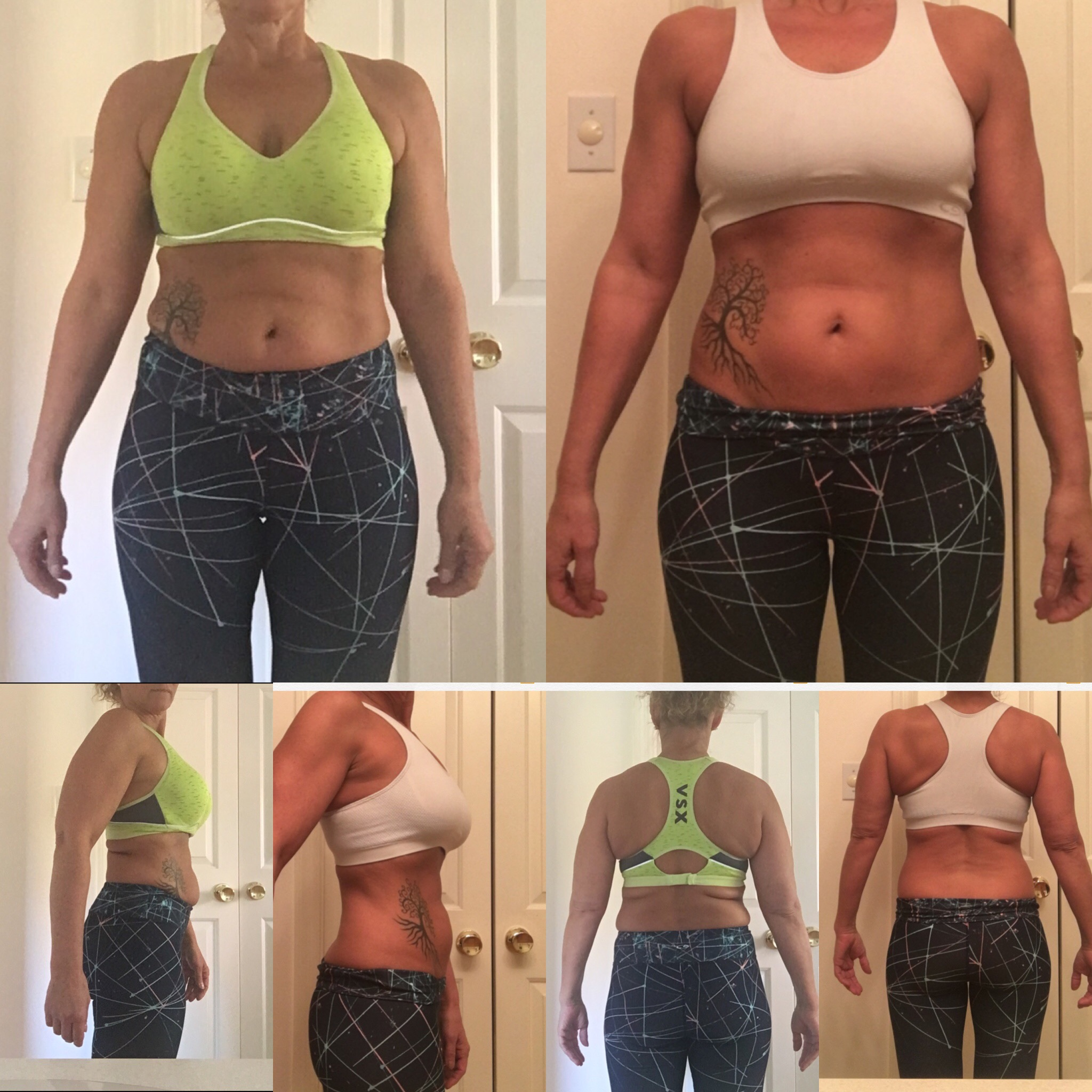 Incredible 8-week transformation from training with our elite fitness trainer, Thor Lampman: She lost 23 lbs and 21 inches!! - This was all attained from a combination of personal training twice a week, 3 days a week of working out on her own, and of course... healthy eating! The most amazing goals can be achieved if you work hard, stay focused, and remain consistent.