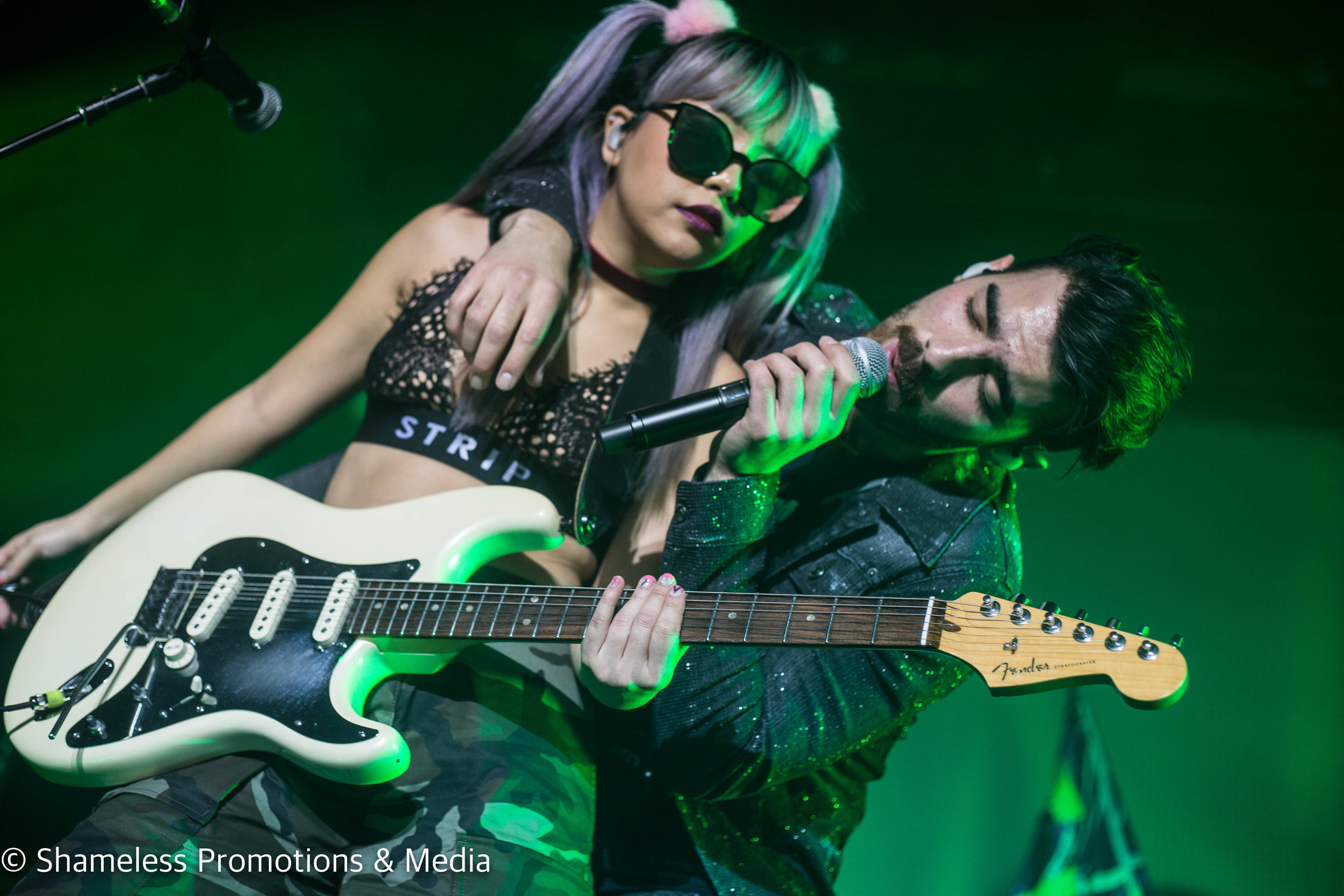 JinJoo Lee and Joe Jonas of DNCE performing at The Fillmore in San Francisco, CA. January 22, 2017. Photo: Jared Stossel