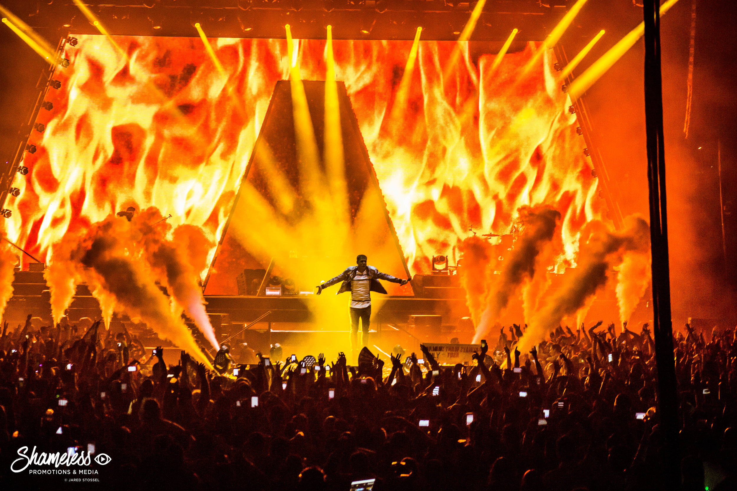 Armin van Buuren performing his 'Armin Only: Embrace' show at Oracle Arena in Oakland, CA. February 3, 2017. Photo: Jared Stossel