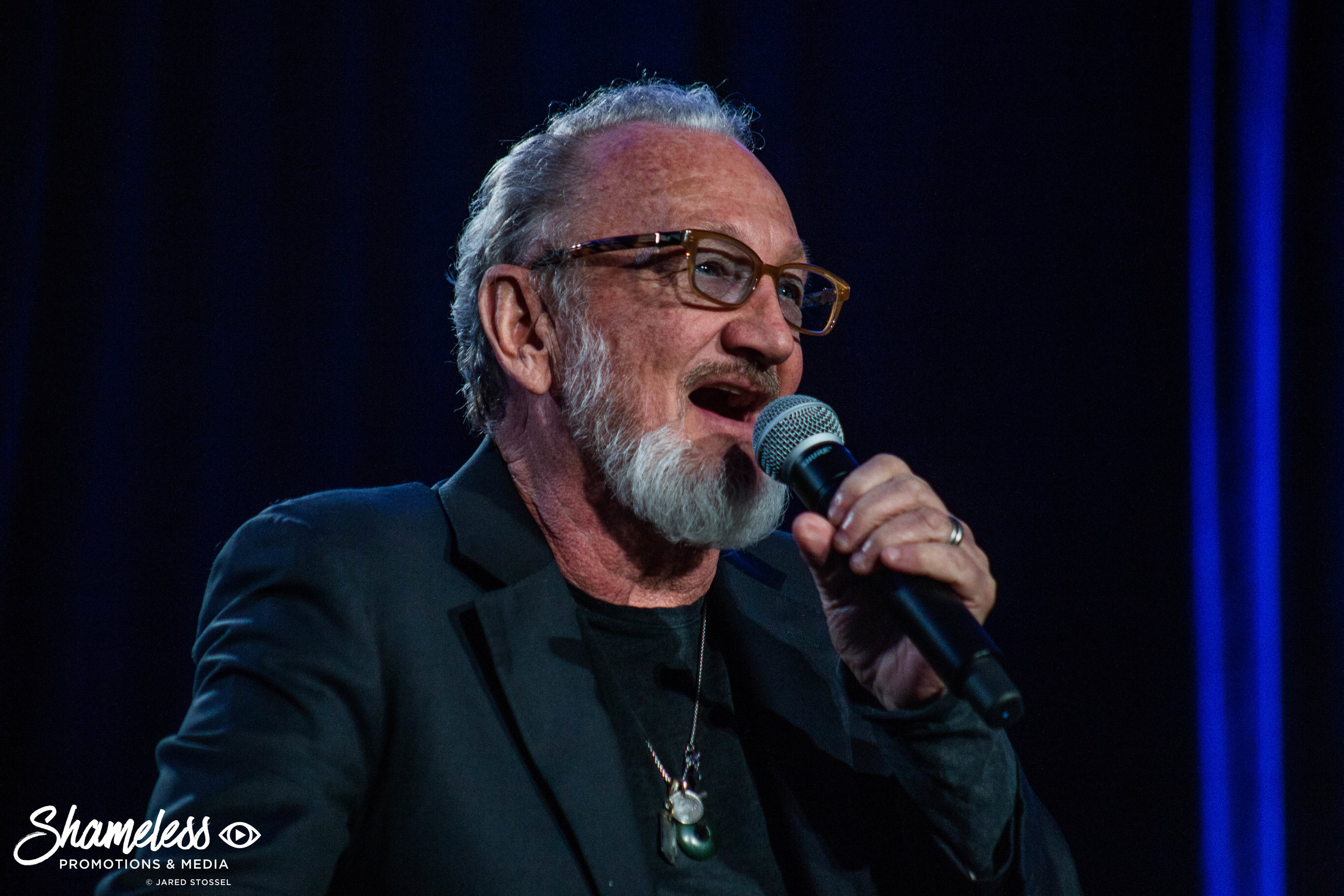 Robert Englund speaking at Silicon Valley Comic Con. April 22, 2017. Photo Credit: Jared Stossel.