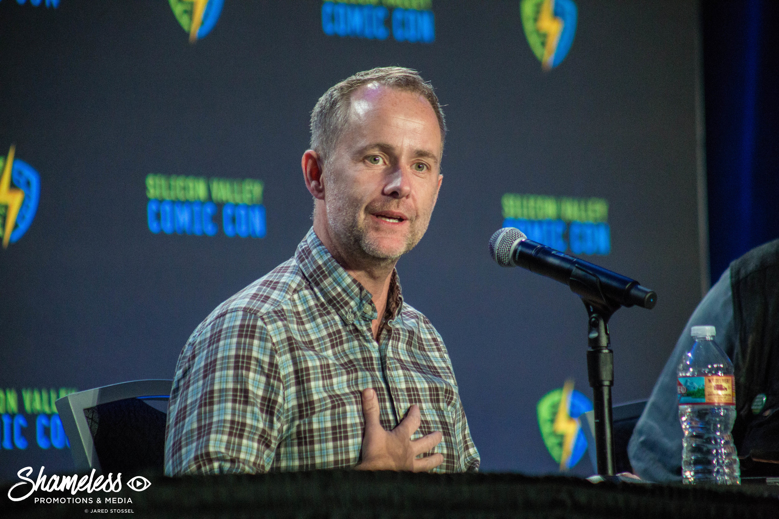 Actor/musician Billy Boyd speaking at Silicon Valley Comic Con. April 23, 2016. Photo Credit: Jared Stossel