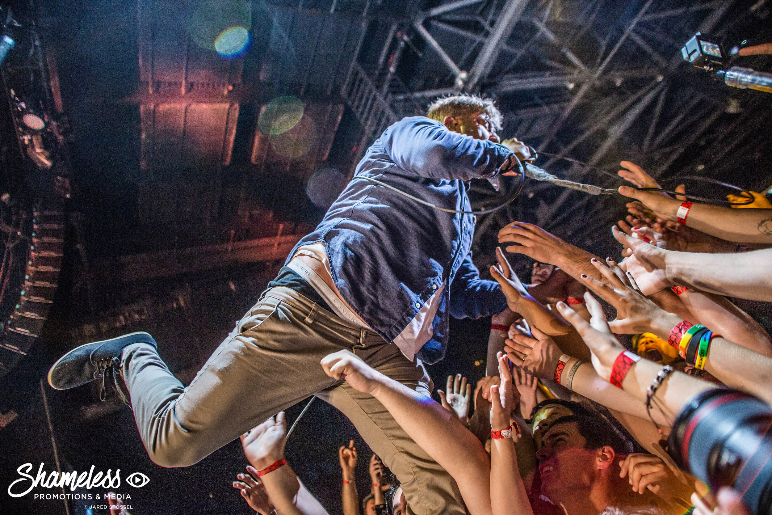 Chino Moreno of Deftones performing in Concord, CA at Concord Pavilion. July 6, 2017. Photo: Jared Stossel