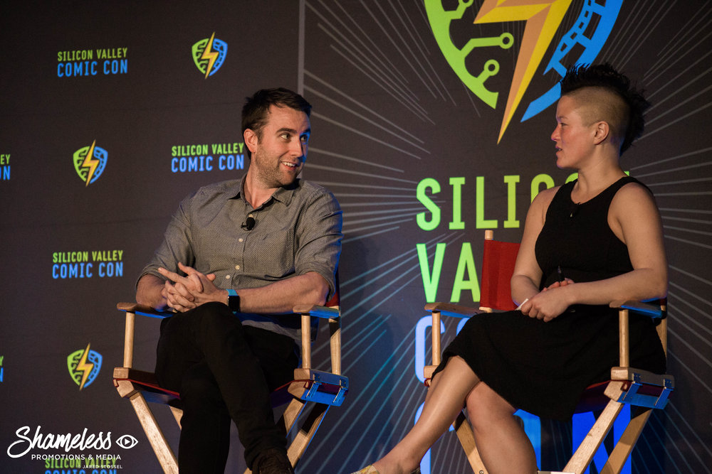 Matthew Lewis speaking at SVCC 2018. Photo Credit: Jared Stossel.