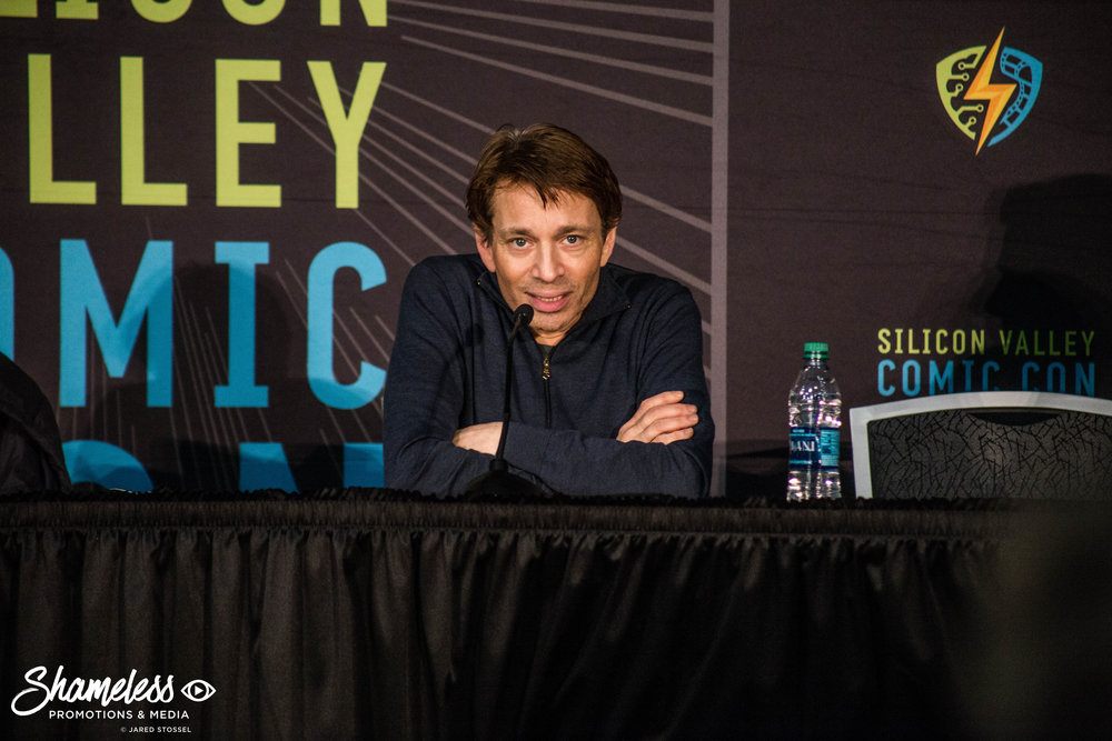 Chris Kattan speaking at SVCC 2018. Photo Credit: Jared Stossel.