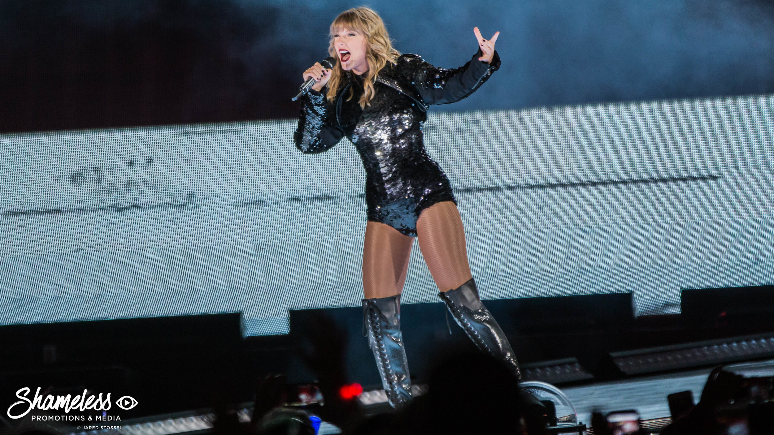 Taylor Swift performing at Levi's Stadium in Santa Clara, CA on the 'Reputation' World Tour. May 11th, 2018. Photo Credit: Jared Stossel.