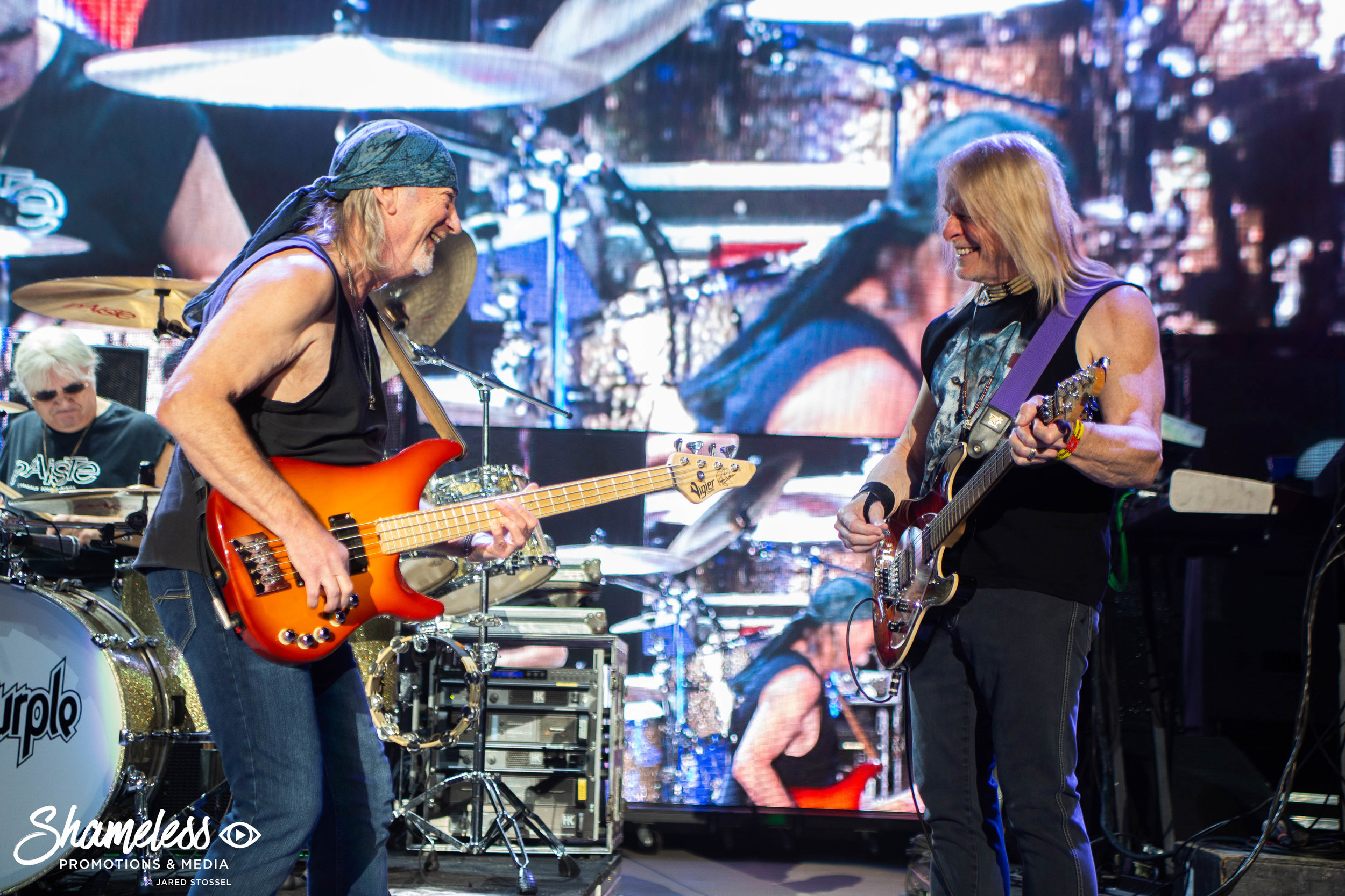 Deep Purple performing at Shoreline Amphitheatre in Mountain View, CA on September 29, 2018. Photo Credit: Jared Stossel